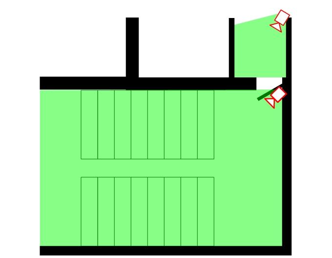 Схема расположения камер на лестничной клетки и в квартире на входную дверь