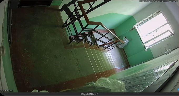 Лестничная клетка из камеры видеонаблюдения